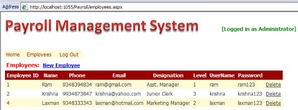 payroll system project